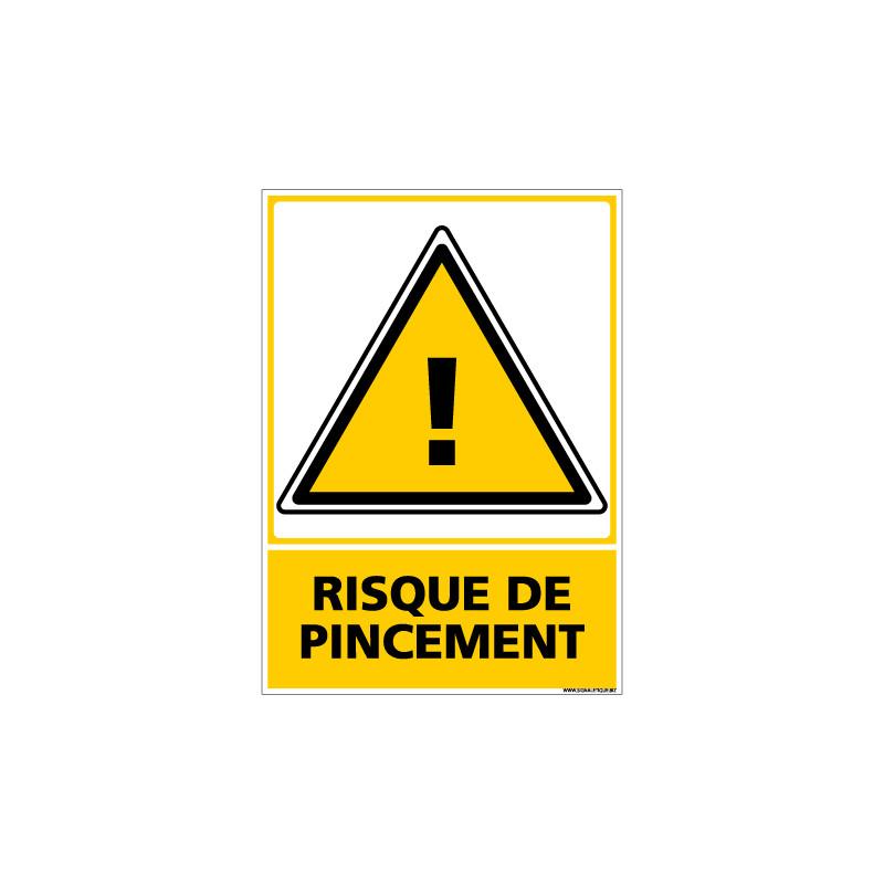 Panneau RISQUE DE PINCEMENT (C0680)
