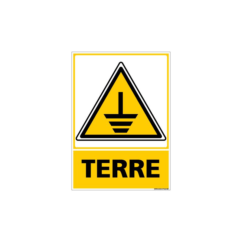 PANNEAU DANGER TERRE (C0688)