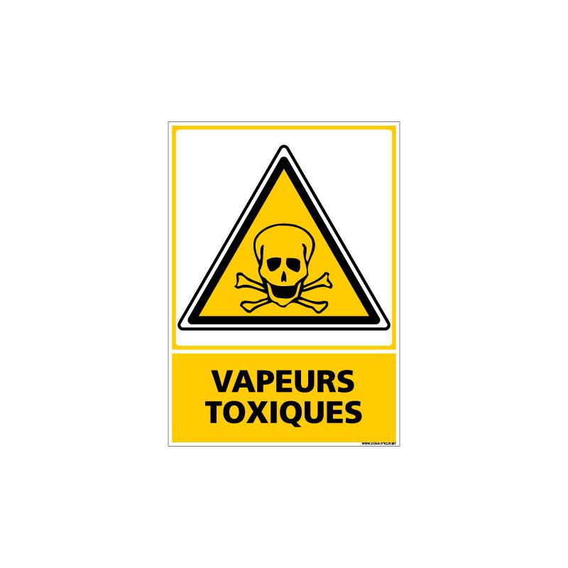 Panneau VAPEURS TOXIQUES (C0693)