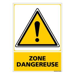 Panneau ZONE DANGEREUSE (C0696)