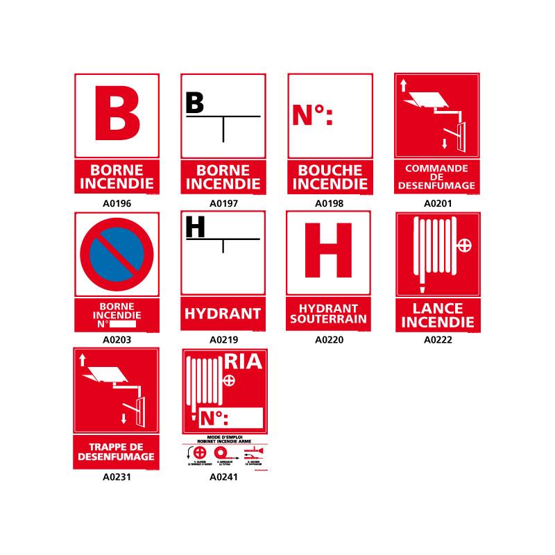 Signalisation securite et prevention incendie.