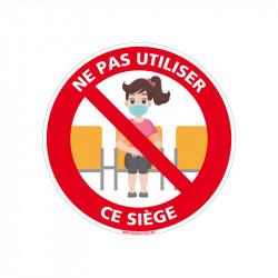 PANNEAU NE PAS UTILISER CE SIÈGE VISUEL FILLE (D1361)