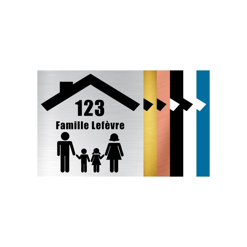 PLAQUE GRAVEE POUR BOITE AUX LETTRES FAMILY PERSONNALISABLE (BAL0014)