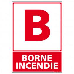 Panneau de Signalisation Incendie BORNE INCENDIE (A0196)
