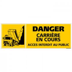 PANNEAU DANGER CARRIERE EN COURS (C0804)