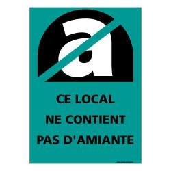 PANNEAU CE LOCAL NE CONTIENT PAS D'AMIANTE (C0845)