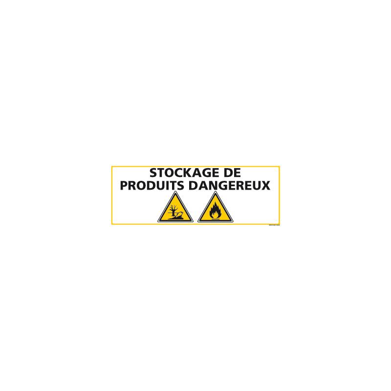 PANNEAU STOCKAGE PRODUITS DANGEREUX (C0851)