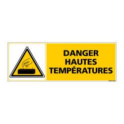 Panneau de Signalisation DANGER HAUTES TEMPERATURES (C0864)