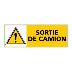 Panneau de Signalisation SORTIE DE CAMION (C0866)