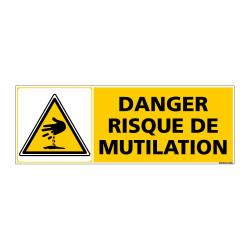 Panneau de Signalisation DANGER RISQUE DE MUTILATION (C0945)