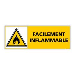 Panneau de Signalisation FACILEMENT INFLAMMABLE (C0958)
