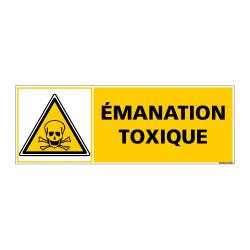 Panneau de Signalisation EMANATION TOXIQUE (C0959)