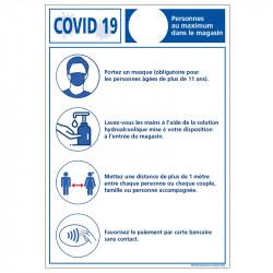 AFFICHE COVID-19 NOMBRE...
