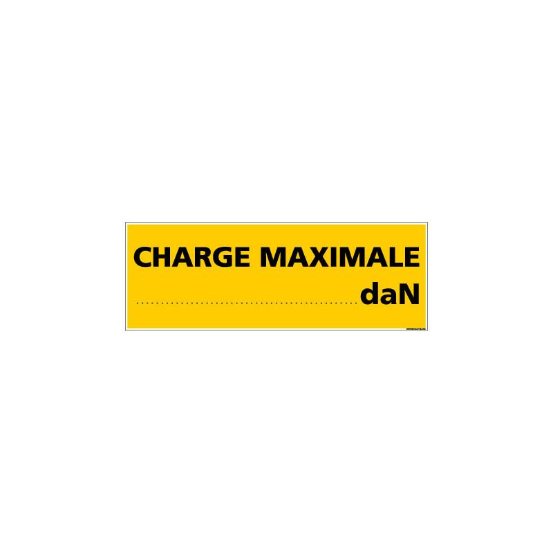Panneau de Signalisation CHARGE MAXIMALE (C1005)