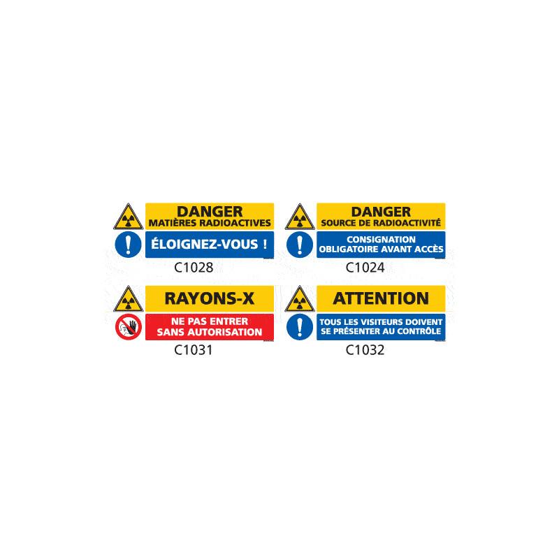 Signalisation produits dangereux risque ionisant