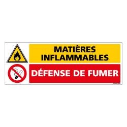 Panneau MatiËres Inflammables - Interdiction de fumer (C1035)