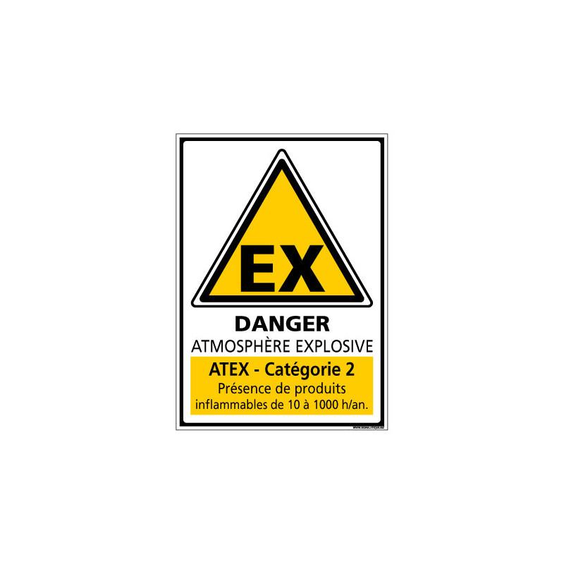 Panneau de Signalisation ATMOSPHERE EXPLOSIVE CATEGORIE 2 (C1039)