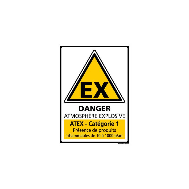 Panneau de Signalisation ATMOSPHERE EXPLOSIVE CATEGORIE 1 (C1048)