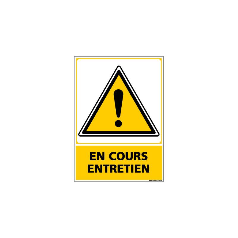 Panneau de Signalisation EN COURS ENTRETIEN (C1050)