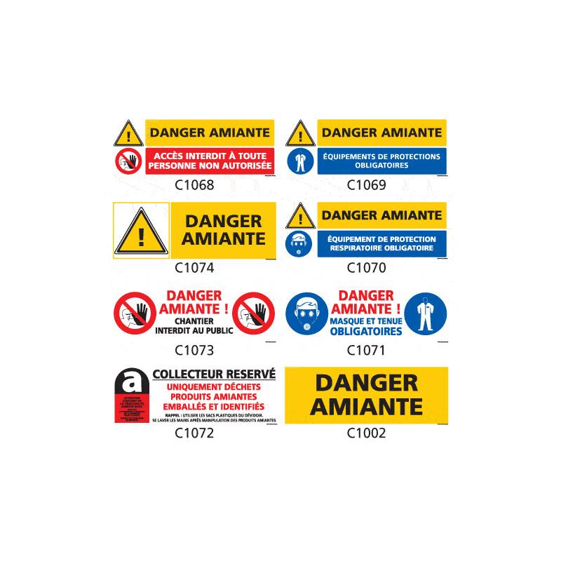 Panneau Signalisation produits dangereux Amiante